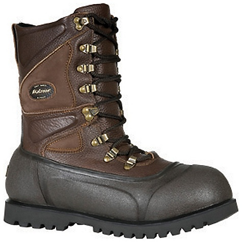 Free Shipping. Lacrosse Men's Alpha Ice King Boot DECENT FEATURES of the La Crosse Men's Alpha Ice King Boot 3.5mm naturally insulating neoprene with Alpha Soft Shell upper All natural, hand-crafted rubber bottom Uncompromising waterproof protection Removable Radiantex liner which reflects heat to the foot while wicking away moisture 800G Thinsulate Ultra Insulation 4.0mm wool midsole Alpha Lite outsole featuring uncompromising traction in a lightweight design The SPECS Height: 11in. Weight: 5.3 lbs Lining: Removable Radiantex - $179.95