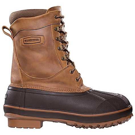 Free Shipping. Lacrosse Men's Ice King Boot DECENT FEATURES of the La Crosse Men's Ice King Boot Full-grain leather upper All natural, hand-crafted rubber bottom 100% waterproof bottom Removable poly foam liner 400G Thinsulate Ultra Insulation 6.0mm felt footbed 8.0mm felt midsole Trac-Lite outsole for superior traction in snow, mud and loose terrain The SPECS Height: 10in. Weight: 6.6 lbs Lining: Removable Foam - $149.95