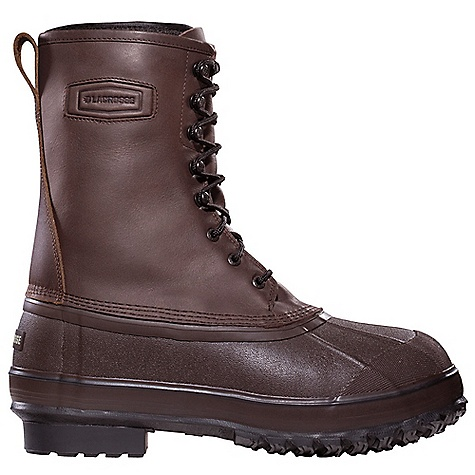 Free Shipping. Lacrosse Men's Iceman Boot DECENT FEATURES of the La Crosse Men's Iceman Boot Full-grain leather upper All natural, hand-crafted rubber bottom 100% waterproof bottom Removable 9.0mm felt liner Foam insulation Trac-Lite outsole for superior traction in snow, mud and loose terrain The SPECS Height: 10in. Weight: 6.2 lbs Lining: Removable Felt - $129.95