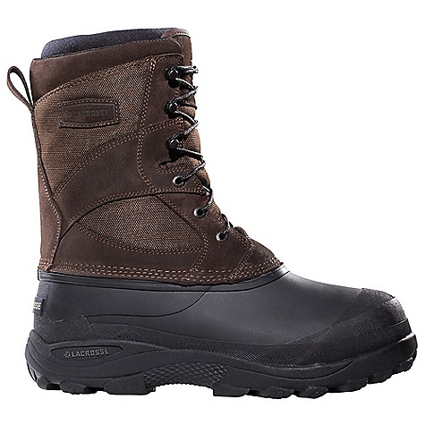 Free Shipping. Lacrosse Men's Pine Top Boot DECENT FEATURES of the La Crosse Men's Pine Top Boot Suede leather upper with rugged 500 Denier nylon All natural, hand-crafted rubber bottom 100% waterproof bottom Removable foam liner Foam insulation Snow Grip outsole featuring an aggressive tread pattern for superior traction in snow and slush The SPECS Height: 11in. Weight: 5.0 lbs Lining: Removable Foam - $99.95