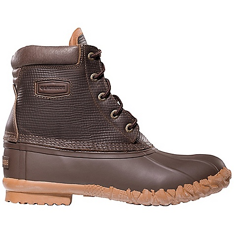 Camp and Hike Free Shipping. Lacrosse Men's 5 Eye Leather Pac Boot DECENT FEATURES of the La Crosse Men's 5 Eye Leather Pac Boot Full-grain, oiled and distressed leather upper All natural, hand-crafted rubber bottom 100% waterproof bottom 200G Thinsulate Insulation Rope Cleated outsole for slip resistant traction in snow and ice The SPECS Height: 7in. Weight: 3.7 lbs Lining: Nylon - $99.95