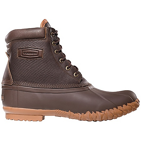 Camp and Hike Free Shipping. Lacrosse Men's 6 Eye Leather Pac Boot DECENT FEATURES of the La Crosse Men's 6 Eye Leather Pac Boot Full-grain, oiled and distressed leather upper All natural, hand-crafted rubber bottom 100% waterproof bottom 200G Thinsulate Insulation Rope Cleated outsole for slip resistant traction in snow and ice The SPECS Height: 8in. Weight: 3.6 lbs Lining: Nylon - $99.95