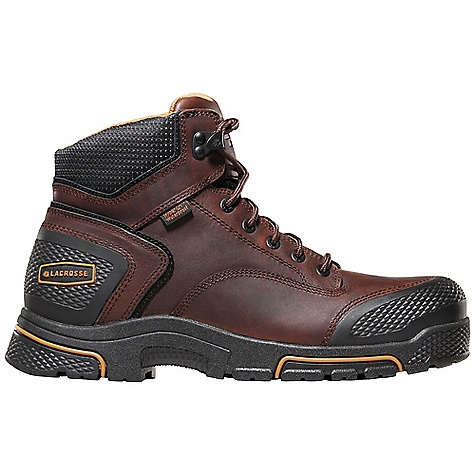 Free Shipping. Lacrosse Men's Adamas 6 Inch Boot DECENT FEATURES of the La Crosse Men's Adamas 6 Inch Boot Full-grain leather upper Diamond plated abrasion resistant rubber toe and heel wrap 100% waterproof Dry-Core lining Cushioning, quick drying dual-density footbed Quad Impact technology featuring four layers of cushioning and shock absorption Nylon shank Quad Impact outsole featuring a 90deg heel and oil and slip resistant traction 30 day comfort guarantee The SPECS Height: 6in. Weight: 3.6 lbs Lining: Dry-Core Safety Standards: S ASTM F2892-11 EH - $119.95