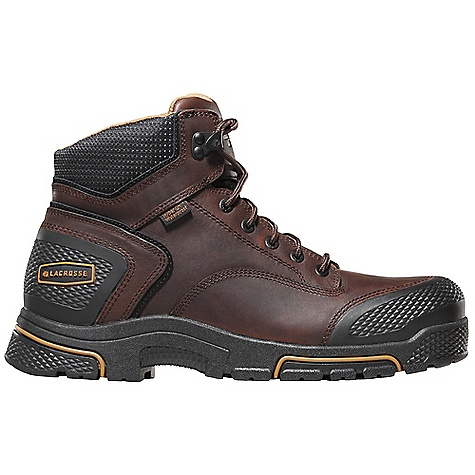 Free Shipping. Lacrosse Men's Adamas 6 Inch Steel Toe Boot DECENT FEATURES of the La Crosse Men's Adamas 6 Inch Steel Toe Boot Full-grain leather upper Diamond plated abrasion resistant rubber toe and heel wrap 100% waterproof Dry-Core lining Cushioning, quick drying dual-density footbed Quad Impact technology featuring four layers of cushioning and shock absorption Nylon shank Quad Impact outsole featuring a 90deg heel and oil and slip resistant traction 30 day comfort guarantee The SPECS Height: 6in. Weight: 4.2 lbs Lining: Dry-Core Safety Standards: Steel Toe Meets or Exceeds Astm F2413-11 M I/75 C/75 EH - $129.95