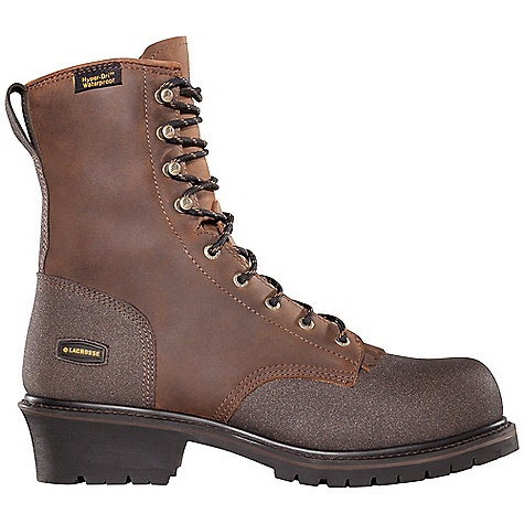 Extreme Free Shipping. Lacrosse Men's Extreme Tough Logger Boot DECENT FEATURES of the La Crosse Men's Extreme Tough Logger Boot Full-grain leather upper with pull straps Helcor abrasion and chemical resistant leather on toe and heel 100% waterproof Dry-Core lining Removable triple-density PU footbed Goodyear welt construction Fiberglass shank Foreman Logger outsole featuring a 90deg heel and oil and slip resistant traction The SPECS Height: 8in. Weight: 4.6 lbs Lining: Dry-Core Safety Standards: Meets Astm F2892-11 EH - $134.95
