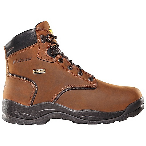 Free Shipping. Lacrosse Men's Quad Comfort 4x6 Steel Toe Boot DECENT FEATURES of the La Crosse Men's Quad Comfort 4x6 Steel Toe Boot Full-grain leather upper with wide padded collar 100% waterproof Dry-Core lining Dual-density molded EVA footbed Quad Comfort technology featuring four layers of cushioning and support Nylon shank Quad outsole featuring oil and slip resistant traction 30 day comfort guarantee Extended sizing available for women The SPECS Height: 6in. Weight: 4.0 lbs Lining: Dry-Core Safety Standards: Steel Toe Meets or Exceeds Astm F2413-05 M I/75 C/75 EH - $144.95
