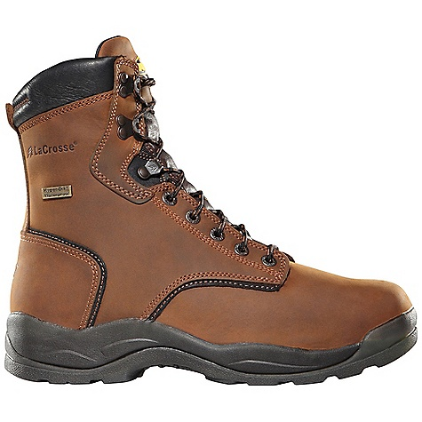Free Shipping. Lacrosse Men's Quad Comfort 4x8 Steel Toe Boot DECENT FEATURES of the La Crosse Men's Quad Comfort 4x8 Steel Toe Boot Full-grain leather upper with wide padded collar 100% waterproof Dry-Core lining Dual-density molded EVA footbed Quad Comfort technology featuring four layers of cushioning and support Nylon shank Quad outsole featuring oil and slip resistant traction 30 day comfort guarantee Extended sizing available for women The SPECS Height: 8in. Weight: 4.0 lbs Lining: Dry-Core Safety Standards: Steel Toe Meets or Exceeds Astm F2413-05 M I/75 C/75 EH - $154.95