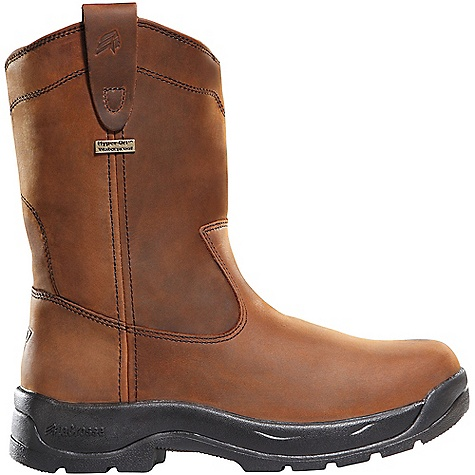 Free Shipping. Lacrosse Men's Wellington QC DC Boot DECENT FEATURES of the La Crosse Men's Wellington QC DC Boot Full-grain leather upper with pull straps 100% waterproof Dry-Core lining Quad Comfort footbed Quad Comfort technology featuring four layers of cushioning and support Nylon shank Quad 90 outsole featuring a 90deg heel and oil and slip resistant traction 30 day comfort guarantee The SPECS Height: 11in. Weight: 3.1 lbs Lining: Dry-Core - $149.95