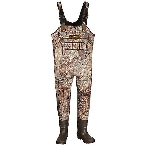 Hunting Free Shipping. Lacrosse Men's Brush-Tuff Wader DECENT FEATURES of the La Crosse Men's Brush-Tuff Wader Heavyweight 5.0mm fleece-lined insulating neoprene Uncompromising waterproof protection Abrasion resistant protection from La Crosse Brush Tuff bi-directional material Buckled straps with capabilities to create a belt when folded down Top loading pocket and hand warmer Built-in shell holder Double stitched seams and reinforced knees 1200G Thinsulate Ultra Insulation Removable EVA footbed Trac-Lite outsole for superior traction in snow, mud and loose terrain The SPECS Lining: Fleece Insulation: 1200g Thinsulate ultra - $259.95