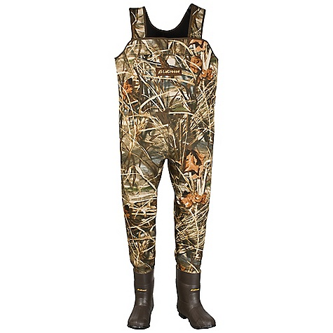 Hunting Free Shipping. Lacrosse Men's Mallard Wader DECENT FEATURES of the La Crosse Men's Mallard Wader 3.5mm stretch insulating neoprene Uncompromising waterproof protection Abrasion resistant protection from La Crosse Brush Tuff bi-directional material Velcro straps with capabilities to create a belt when folded down Top loading pocket and hand warmer Double stitched seams and reinforced knees 1000G Thinsulate Ultra Insulation Trac-Lite outsole for superior traction in snow, mud and loose terrain Removable EVA footbed Available in an expandable version with 16in. torso length and additional room in the thigh The SPECS Lining: Jersey Insulation: 1000g Thinsulate ultra - $219.95