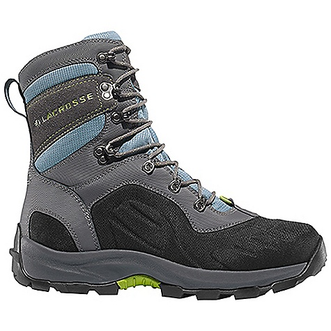 Free Shipping. Lacrosse Women's Onalaska Lace Boot DECENT FEATURES of the La Crosse Women's Onalaska Lace Boot Abrasion resistant leather with lightweight and rugged nylon upper Moisture wicking comfort collar padding Ice Shield technology provides insulating warmth with abrasion resistant protection Gaitor loop 800G insulation Layered insulating footbed Thick, cushioning EVA midsole Trempalo outsole design for athletic performance and superior traction on snow and ice Ice Shield technology provides insulating warmth with waterproof and abrasion resistant protection The SPECS Temperature Rating: -80deg F Height: 7in. Weight: 3 lbs Lining: Polyester Insulations: 800 G - $159.95