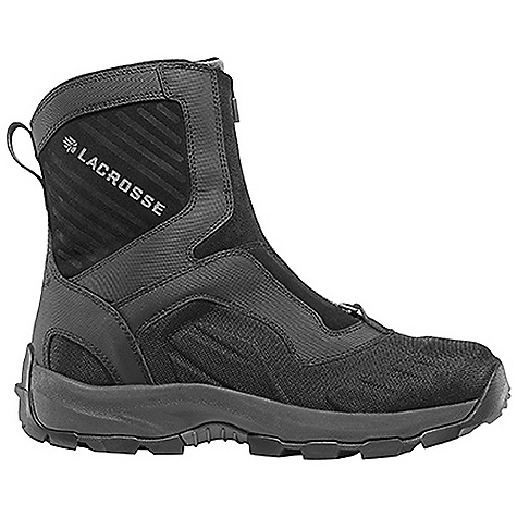 Free Shipping. Lacrosse Men's Onalaska Zip Boot DECENT FEATURES of the La Crosse Men's Onalaska Zip Boot Abrasion resistant leather with lightweight and rugged nylon upper Moisture wicking comfort collar padding Ice Shield technology provides insulating warmth with waterproof abrasion resistant protection Gaitor loop 400G insulation Layered insulating footbed Thick, cushioning EVA midsole Trempalo outsole design for athletic performance and superior traction on snow and ice The SPECS Temperature Rating: -40deg F Height: 7in. Weight: 3.3 lbs Lining: Polyester Insulations: 400 G - $149.95