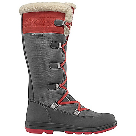 Free Shipping. Lacrosse Women's Rollick Boot DECENT FEATURES of the La Crosse Women's Rollick Boot Water resistant nylon upper with fur cuff Pull on with adjustable lace up fit Fleece lined comfort 400G Thinsulate Insulation Cushioning EVA midsole and footbed Traverse low profile outsole The SPECS Height: 15in. Weight: 2.6 lbs Insulation: 400G Thinsulate Ultra Lining: Fleece - $174.95