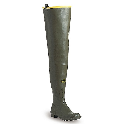 Hunting Features of the La Crosse Men's Big Chief 600G Hip Wader All natural, hand-crafted rubber Uncompromising scent-free and waterproof protection Adjustable internal calf harness for a secure Fit Contoured Ankle-Fit design to prevent heel slippage Available with 600G Thinsulate Ultra Insulation Removable EVA Footbed Air-Grip Outsole featuring a self-cleaning lug pattern for traction in Snow or mud - $139.95
