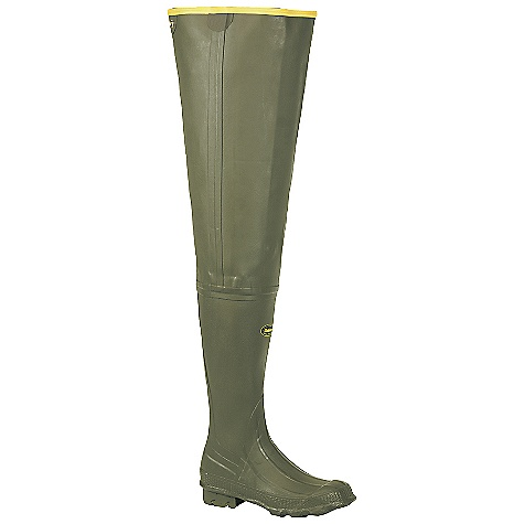Hunting Free Shipping. Lacrosse Men's Big Chief Hip Wader DECENT FEATURES of the La Crosse Men's Big Chief Hip Wader All natural, hand-crafted rubber Uncompromising scent-free and waterproof protection Adjustable internal calf harness for a secure fit Contoured Ankle-Fit design to prevent heel slippage Available with 600G Thinsulate Ultra Insulation Removable EVA footbed Air-Grip outsole featuring a self-cleaning lug pattern for traction in snow or mud The SPECS Height: 32in. Lining: Nylon - $123.95