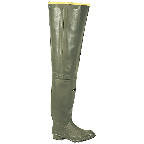Hunting Features of the La Crosse Men's Marsh Wader All natural, hand-crafted rubber Uncompromising scent-free and waterproof protection Adjustable internal calf harness for a secure Fit Removable EVA Footbed Chevron Cleated Outsole featuring a self-cleaning lug pattern for superior traction - $139.95