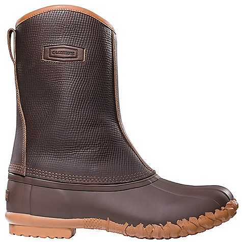 Free Shipping. Lacrosse Men's Mesquite Boot DECENT FEATURES of the La Crosse Men's Mesquite Boot Full-grain, oiled and distressed leather upper All natural, hand-crafted rubber bottom 100% waterproof bottom Side zipper 200G Thinsulate Insulation Removable Air Cushion footbed Rope Cleated outsole for slip resistant traction in snow and ice The SPECS Height: 10in. Weight: 4.6 lbs Lining: Nylon - $124.95
