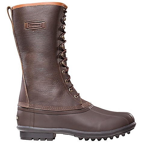 Free Shipping. Lacrosse Men's Mountaineer Boot DECENT FEATURES of the La Crosse Men's Mountaineer Boot Full-grain, oiled and distressed leather upper All natural, hand-crafted rubber bottom 100% waterproof bottom Removable felt liner 200G Thinsulate Insulation La Crosse Bob outsole featuring aggressove outer lugs for slip resistant traction in rugged terrain The SPECS Height: 12in. Weight: 5.6 lbs Lining: Removable Felt - $169.95