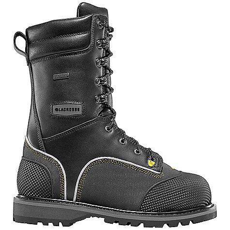 Free Shipping. Lacrosse Men's Longwall II 8 Inch Boot DECENT FEATURES of the La Crosse Men's Longwall II 8 Inch Boot 2.0MM waterproof full-grain leather upper Triple stitched for maximum durability 3M Scotchlite reflective piping for increased visibility Vibram dual-density abrasion and chemical resistant rubber heel and toe wrap 100% waterproof and breathable Gore-Tex lining 200G Thinsulate Insulation Lightweight non-metallic protective toe and flexible internal Met Flex metatarsal guard Removable dual-density footbed with TPU arch support and PU toe to heel cushioning and protection Puncture resistant midsole Fiberglass shank Vibram Maltese outsole featuring oil and slip resistant traction The SPECS Height: 10in. Weight: 6.2 lbs Insulation: 200G Thinsulate Lining: Gore-Tex Safety Standards: Non-Metallic Safety Toe, Flex-Shield Ii Midsole And Internal Metflex Meets or Exceeds Astm F2413-11 M I/75 C/75 MT EH PR - $339.95