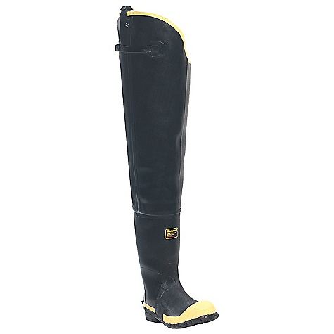 Free Shipping. Lacrosse Men's Insulated Storm Hip Boot DECENT FEATURES of the La Crosse Men's Insulated Storm Hip Boot All natural, hand-crafted ZXT ozone and tear resistant rubber Uncompromising waterproof protection Double layer abrasion resistant toe guard Canvas lining and pull straps Polymeric foam insulation and 8.0mm felt insole Safety toe protection Removable EVA footbed Puncture resistant midsole Steel shank Trac-Lite outsole featuring slip resistant traction The SPECS Height: 31in. Weight: 8.3 lbs Insulation: Foam Lining: Canvas Safety Standards: Steel Toe and Midsole meets or exceeds ASTM F2413-11 M I/75 C/75 EH PR - $147.95