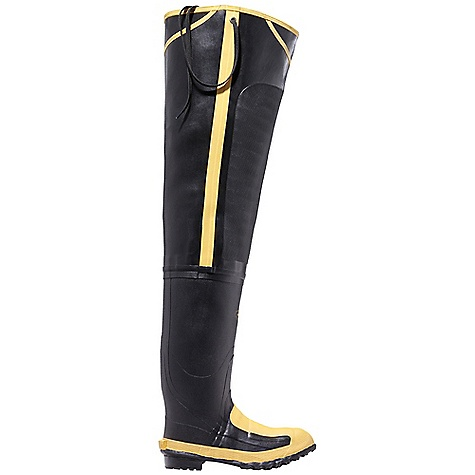Free Shipping. Lacrosse Men's Met 32 Inch Hip Boot DECENT FEATURES of the La Crosse Men's Met 32 Inch Hip Boot All natural, hand-crafted ZXT ozone and tear resistant rubber Uncompromising waterproof protection Double layer abrasion resistant toe guard and shovel arch protection Safety toe and metatarsal guard protection Removable footbed Puncture resistant midsole Fiberglass shank Trac-Lite outsole featuring slip resistant traction The SPECS Height: 32in. Weight: 8.0 lbs Lining: Canvas Safety Standards: Steel Toe, Steel Midsole And Floating Metatarsal Guard Meets or Exceeds Astm F2413-11 M I/75 C/75 MT EH PR - $169.95