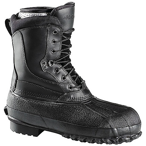 Free Shipping. Lacrosse Men's Non Metallic Toe Pac Boot DECENT FEATURES of the La Crosse Men's Non Metallic Toe Pac Boot Vulcanized black rubber shell bottom with full-grain leather upper Uncompromising waterproof protection 400G Thinsulate Ultra Insulation Lightweight non-metallic safety toe Removable five-layer, insulated, heat-reflecting Radiantex liner Fiberglass shank Trac-Lite outsole featuring slip resistant traction and is ideal for use on ladder rungs The SPECS Temperature Rating: -70deg F Height: 12in. Weight: 6.0 lbs Lining: Radiantex Insulations: 400G Thinsulate Ultra - $139.95