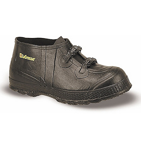 On Sale. Free Shipping. Lacrosse Men's Z Series 5 Inch Overshoe FEATURES of the La Crosse Men's Z Series 5 Inch Overshoe All natural, hand-crafted rubber Uncompromising waterproof protection Designed to fit over flat heel footwear Non-corrosive metal buckles for an adjustable secure fit Diamond Chevron outsole won't track mud or dirt - $32.99