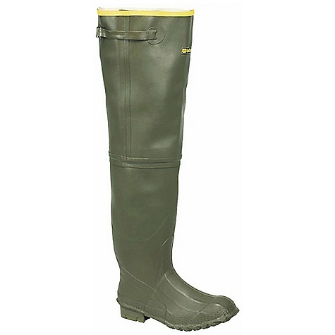 Hunting Features of the La Crosse Men's ZXT Irrigation Hip Boot All natural, hand-crafted ZXT ozone and tear resistant rubber Uncompromising waterproof protection Top strap for an adjustable secure Fit Heavy duty cotton duck lining Foam Footbed Fiberglass shank Trac-Lite Outsole featuring slip resistant traction Extended sizing available for women - $119.95