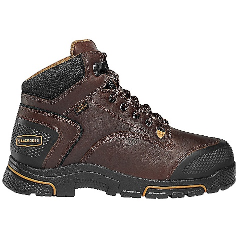 Free Shipping. Lacrosse Men's Adamas 6 Inch Met Guard Steel Toe Boot DECENT FEATURES of the La Crosse Men's Adamas 6 Inch Met Guard Steel Toe Boot Full-grain leather upper Diamond plated abrasion resistant rubber toe and heel wrap 100% waterproof Dry-Core lining Cushioning, quick drying dual-density footbed Quad Impact technology featuring four layers of cushioning and shock absorption Nylon shank Quad Impact outsole featuring a 90deg heel and oil and slip resistant traction Available with a flexible internal MetFlex metatarsal guard 30 day comfort guarantee The SPECS Height: 6in. Weight: 4.6 lbs Lining: Dry-Core Safety Standards: STEEL TOE Non-Metallic Toe Meets or Exceeds Astm F2413-11 M I/75 C/75 EH - $149.95
