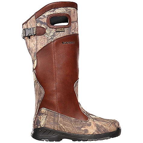 Hunting Features of the Lacrosse Men's Adder Snake 18IN Boot Scent Dry is our Highly engineered lining that wraps the entire boot for 100% waterproof protection with an antimicrobial treatment applied that fights odor forming bacteria, keeping scent minimized Constructed with full-grain leather and 1000 Denier nylon for durability and comfort Multiple layers of images and patterns featuring leaves, limbs, acorns and branches Are combined in this camouflage that breaks up your silhouette in any Wooded environment Reinforced heel and toe cap for added abrasion resistance in heavy wear Areas A non-loading Outsole that was designed to shed debris and clay-like-mud while providing athletic Performance and superior surface contact on varied terrains - $189.95