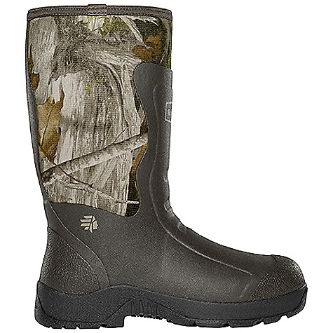 Hunting Free Shipping. Lacrosse Men's Alpha Mudlite 14 Inch Boot DECENT FEATURES of the La Crosse Men's Alpha Mudlite 14 Inch Boot All natural, hand-crafted rubber over insulating neoprene Uncompromising fit, scent-free and waterproof protection from La Crosse Alpha Construction Abrasion resistant protection from La Crosse Brush Tuff bi-directional material Available with adjustable back gusset and strap (all 18in. styles) Shin guard for climbing protection Contoured Ankle-Fit design to prevent heel slippage Air circulation inside the boot from La Crosse Aircirc system Removable EVA footbed Non-exposed floatable shock absorbing midsole Mudlite rubber cup outsole featuring slip resistant traction The SPECS Height: 14in. Weight: 5.2 lbs Insulation: 5.0mm neoprene Lining: Breathable mesh Temp Rating: -40deg to 70deg F - $124.95