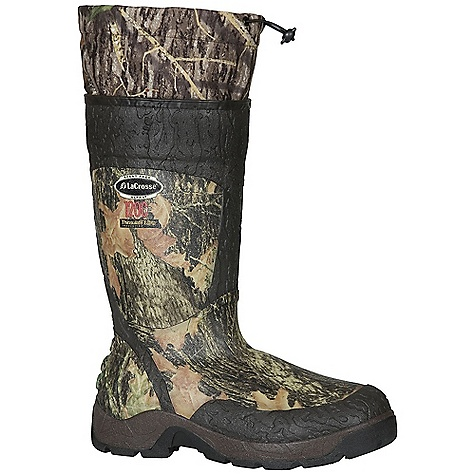 Hunting Free Shipping. Lacrosse Men's Alpha SST 1200G Boot DECENT FEATURES of the La Crosse Men's Alpha SST 1200G Boot All natural, hand-crafted rubber over insulating neoprene Uncompromising fit, scent-free and waterproof protection from La Crosse Alpha Construction La Crosse Scent Suppressing design featuring a scent-free exterior, scent-free interior and a removable antimicrobial gator which fights odor-forming bacteria Shin guard for climbing protection Available with various levels of Thinsulate Ultra Insulation ATS outsole for advanced traction and stability with no mud build up The SPECS Height: 18in. Weight: 5.7 lbs Insulation: Thinsulate ultra Lining: Nylon Temp Rating: -60deg F - $174.95