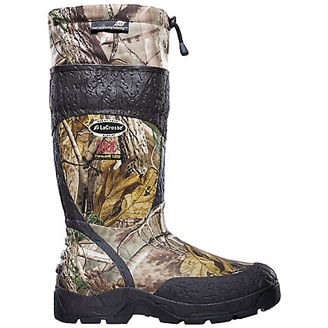 Hunting Free Shipping. Lacrosse Men's Alpha SST 2000G Boot DECENT FEATURES of the La Crosse Men's Alpha SST 2000G Boot All natural, hand-crafted rubber over insulating neoprene Uncompromising fit, scent-free and waterproof protection from La Crosse Alpha Construction La Crosse Scent Suppressing design featuring a scent-free exterior, scent-free interior and a removable antimicrobial gator which fights odor-forming bacteri Contoured Ankle-Fit design to prevent heel slippage Shin guard for climbing protection Available with various levels of Thinsulate Ultra Insulation ATS outsole for advanced traction and stability with no mud build up The SPECS Height: 18in. Weight: 7.6 lbs Insulation: 2000G thinsulate ultra Lining: Nylon Temp Rating: -80deg F - $184.95