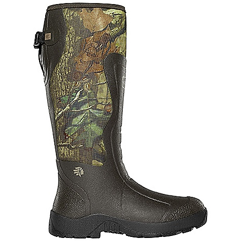 Hunting Free Shipping. Lacrosse Men's Alpha Mudlite 3.5mm 18 Inch Boot DECENT FEATURES of the La Crosse Men's Alpha Mudlite 3.5mm 18 Inch Boot All natural, hand-crafted rubber over insulating neoprene Uncompromising fit, scent-free and waterproof protection from La Crosse Alpha Construction Abrasion resistant protection from La Crosse Brush Tuff bi-directional material Available with adjustable back gusset and strap (all 18in. styles) Shin guard for climbing protection Contoured Ankle-Fit design to prevent heel slippage Air circulation inside the boot from La Crosse Aircirc system Removable EVA footbed Non-exposed floatable shock absorbing midsole Mudlite rubber cup outsole featuring slip resistant traction The SPECS Height: 18in. Weight: 5.2 lbs Insulation: 3.5mm neoprene Lining: Breathable mesh Temp Rating: -20deg to 80deg F - $139.95
