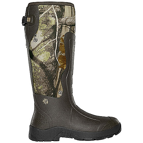 Hunting Free Shipping. Lacrosse Men's Alpha Mudlite 5mm 18 Inch Boot DECENT FEATURES of the La Crosse Men's Alpha Mudlite 5mm 18 Inch Boot All natural, hand-crafted rubber over insulating neoprene Uncompromising fit, scent-free and waterproof protection from La Crosse Alpha Construction Abrasion resistant protection from La Crosse Brush Tuff bi-directional material Available with adjustable back gusset and strap (all 18in. styles) Shin guard for climbing protection Contoured Ankle-Fit design to prevent heel slippage Air circulation inside the boot from La Crosse Aircirc system Removable EVA footbed Non-exposed floatable shock absorbing midsole Mudlite rubber cup outsole featuring slip resistant traction The SPECS Height: 18in. Weight: 5.2 lbs Insulation: 5.0mm neoprene Lining: Breathable mesh Temp Rating: -40deg to 70deg F - $139.95
