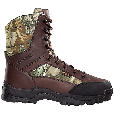 Hunting Free Shipping. Lacrosse Men's Big Country 800G Boot DECENT FEATURES of the La Crosse Men's Big Country 800G Boot Full-grain leather upper with lightweight and rugged 900 Denier nylon Abrasion resistant toe cap Scent-free and 100% waterproof Scent-Dry lining Internal antimicrobial membrane that fights odor-forming bacteria Available with various levels of Thinsulate Ultra Insulation Removable PU footbed Quad-Core technology featuring four layers of cushioning and support QCH outsole featuring a rugged lug pattern for superior traction in mountainous terrain The SPECS Height: 8in. Weight: 3.4 lbs Insulation: 800G thinsulate ultra Lining: Scent-Dry - $124.95