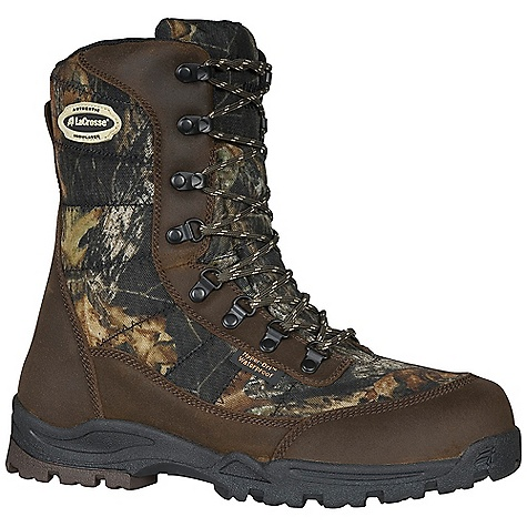 Hunting Free Shipping. Lacrosse Men's Silencer 800G Boot DECENT FEATURES of the La Crosse Men's Silencer 800G Boot Suede leather and rugged 1000 Denier nylon upper Comfort collar padding 100% waterproof Dry-Core lining Available with various levels of Thinsulate Ultra Insulation Removable EVA footbed Deer Tracks outsole specifically designed for stalking The SPECS Height: 8in. Weight: 3.7 lbs Insulation: 800G Thinsulate ultra Lining: Dry-Core - $99.95
