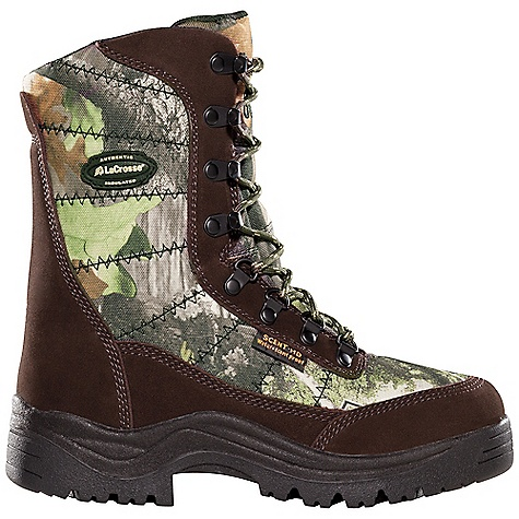 Hunting Free Shipping. Lacrosse Women's Silencer 800G Boot DECENT FEATURES of the La Crosse Women's Silencer 800G Boot Suede leather and rugged 1000 Denier nylon upper Comfort collar padding 100% waterproof Dry-Core lining Available with various levels of Thinsulate Ultra Insulation Removable EVA footbed Deer Tracks outsole specifically designed for stalking The SPECS Height: 8in. Weight: 3.2 lbs Insulation: 800g Thinsulate ultra Lining: Dry-Core - $84.95
