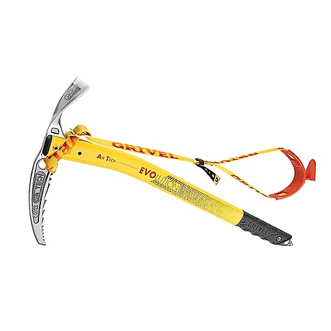 Climbing Free Shipping. Grivel Air Tech Ice Axe DECENT FEATURES of the Grivel Air Tech Ice Axe The head, which is hot forged from a single piece of steel, has become an established alpine classic. New shaft's gentle curve just below the head gives greater clearance Makes anchoring easier on any sort of terrain The lower straight part of the shaft will penetrate into snow with little effort Also available with the new Easy Slider The new hand rest that slides to the top of the shaft when sunk in snow Can also support hand in traction The most advanced axe technology, all in under 500 grams! - $166.50