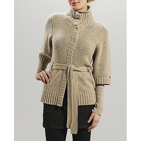 On Sale. Free Shipping. Lole Women's Sonata Cardigan DECENT FEATURES of the Lole Women's Sonata Cardigan Sweater with wide collar Snaps and belt closure Wide sleeves Rib at front placket, cuffs and hem Length: 24in. / 61 cm - $59.99
