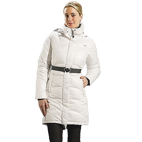 Entertainment On Sale. Free Shipping. Lole Women's Emmy Jacket DECENT FEATURES of the Lole Women's Emmy Jacket Quilted and belted jacket with center front zipper Snap buttons closure and easy grip system Stand-up collar Adjustable and removable hood 2 hand zip pockets 1 removable cargo pocket with flap and travel pillow case inside Rib hand gaiters Downglow 600 insulation Length: 40in. / 101.5 cm - $239.99