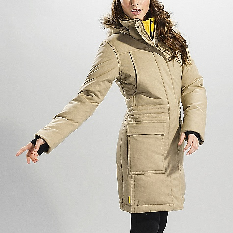 Free Shipping. Lole Women's Andorra DECENT FEATURES of the Lole Women's Andorra Jacket with center front zip Snap buttons closure and easy grip system Stand-up collar with in.fuzzyin. inside Adjustable and removable hood with removable fake fur 2 hand patch pockets with flap and zip at side Rib inner cuffs Strategically seam sealed Thermaglow Max insulation Length: 38in. / 98 cm - $329.95