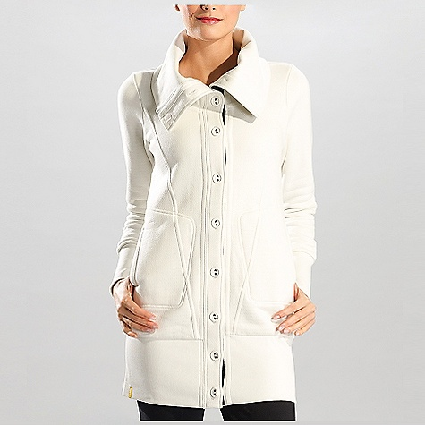 Free Shipping. Lole Women's Maki DECENT FEATURES of the Lole Women's Maki Ultra long cardigan with wide folded rib collar Full button opening 2 hand pockets Rib at cuffs and hem Length: 33in. / 84 cm - $149.95