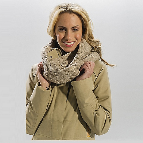 Free Shipping. Lole Women's Cable Scarf DECENT FEATURES of the Lole Women's Cable Scarf Warm and reassuring Classic cable Touch of color and a band of warmth - $50.00