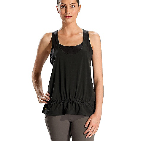 Surf Features of the Lole Women's Jump-Up Tank Top FlAre tank top with racer back Tunnel at waist for adjustment Reflective logo Recycled fibers Quick Dry 4 Way stretch UPF 50+ - $24.99