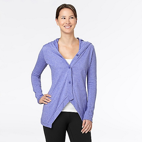 Fitness On Sale. Free Shipping. lucy Women's Purify Cardigan DECENT FEATURES of the Lucy Women's Purify Cardigan loose fit elliptical hem button front hood THE SPECS cotton and polyester blend - $46.99