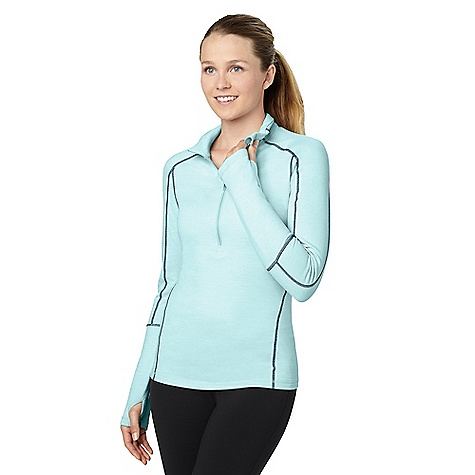 Fitness On Sale. Free Shipping. lucy Women's Fast As Lightning Half Zip Top DECENT FEATURES of the Lucy Women's Fast As Lightning Half Zip Top mesh piecing at back thumbholes reflective back ruching detail at back THE SPECS lightweight brushed poly mesh - $52.99