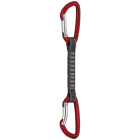 Climbing Mammut Element Key Lock Express Set DECENT FEATURES of the Mammut Element Key Lock Express Set Indicator technology The robust polyamide sheath is of a different color from the red core If the sling is damaged, the red core shows through, telling the user that it is imperative to replace the equipment The SPECS Weight: 98 g, 102 g, 92 g, 96 g Breaking Load Lengthwise: 23 kN Breaking Load Across: 8 kN Breaking Load Open: 8 kN ALL CLIMBING SALES ARE FINAL. - $18.95