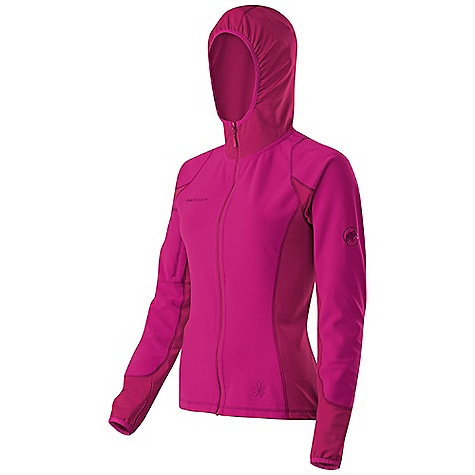 Climbing On Sale. Free Shipping. Mammut Women's Yukon Tech Jacket DECENT FEATURES of the Mammut Women's Yukon Tech Jacket Anatomically cut hood Perfect molding to the body thanks to anatomically correct fit Highly elasticized inserts with maximum breathability Areas of Use: Classical Alpinism, Multipitch Rock-climbing, Winterhiking / Snowshoeing The SPECS Weight: 400 g Main Fabric: Pontetorto Tecnostretch 22101, Face Material: 92% Polyester, 8% Elastane, 44% Polyamide, 37% Polyester, 19% Elastane - $68.99