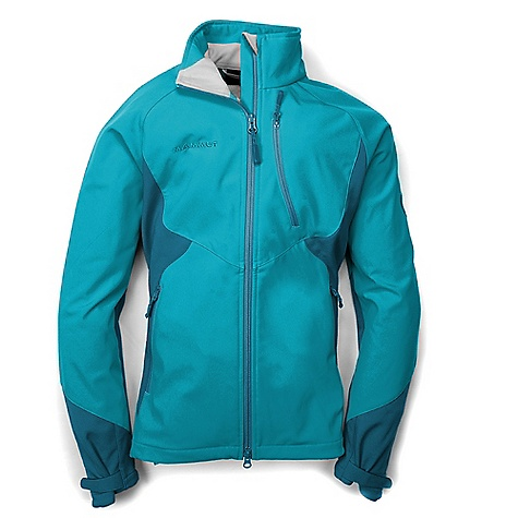 Camp and Hike On Sale. Free Shipping. Mammut Women's Plana Jacket DECENT FEATURES of the Mammut Women's Plana Jacket Comfortable, elastic Soft Shell fabric Pre-shaped sleeves with Velcro cuffs 2 side pockets with zips Drawcord hem, adjustable using one hand One-hand adjustable collar 1 chest pocket with zip Partially with membrane Areas of Use: Winter hiking / Snowshoeing, Skitouring / Backcountry Skiing, Bouldering The SPECS Weight: 490 g Fabric: SOFtech 3-Layer 20206, Face: 86% Polyester, 14% Elastane, Functional Layer: 100% Polyurethane, Backing: 100% Polyester, 55% Polyester, 33% Polyamide (Nylon), 7% Polyurethane - $88.99